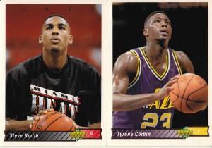1992-93 Upper Deck Smith (#110) and Corbin (#100) Errors